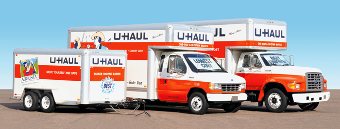 U-Haul trucks, available at Turner Farms Storage in Garner