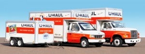 U-Haul trucks available